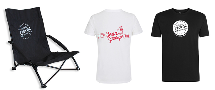 Good George Lawn Chair and T-shirts