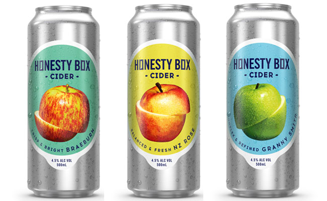 cider, New Zealand cider, Honesty Box, Honesty Box cider, braeburn, granny apple, NZ rose, summer cider