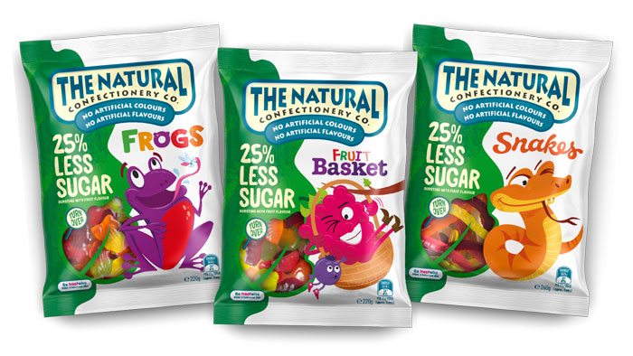 The Natural Confectionery Co, natural, natural sweets, natural lollies, natural candy, less sugar