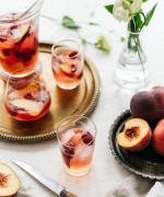 Peach and berry cider sangria
