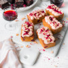 PLUM CAKES WITH PINOT NOIR ICING