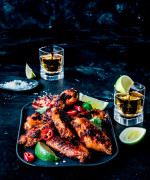 Tequila, chilli and lime chicken wings