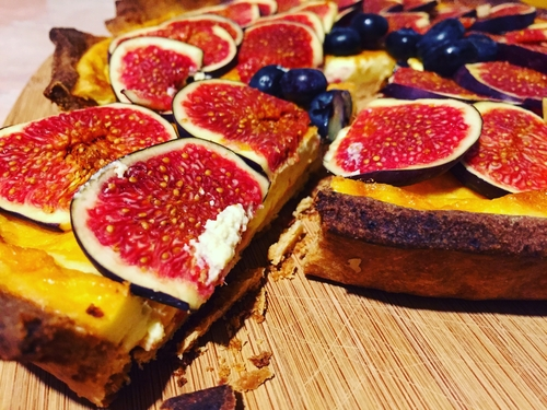 fig tart, marlborough, wine
